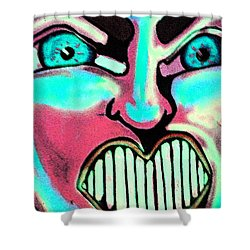 Shower Curtain featuring the painting Super Tillie by Patricia Arroyo