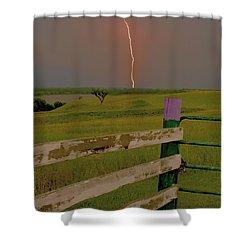 Superbolt At Melvern Lake Shower Curtain