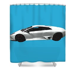 Supercar In White Art Shower Curtain