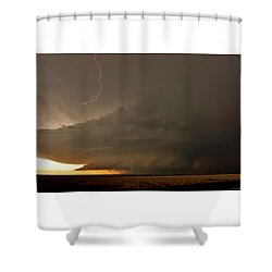 Shower Curtain featuring the photograph Supercell In Kansas by Ed Sweeney