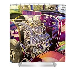 Supercharged Antique 1931 Ford Coupe  Shower Curtain