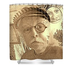 Superego, Ego, And Id Shower Curtain by Tobeimean Peter