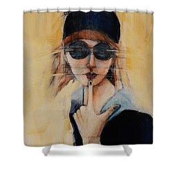 Superficially Evocative Shower Curtain