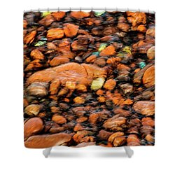 Superior Beach Rocks Shower Curtain