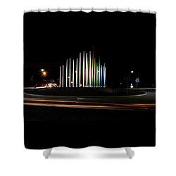 Superior Circle Art - Fort Wayne Indiana Shower Curtain