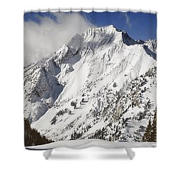 Superior Peak Wasatch Mountains Utah Panorama Shower Curtain