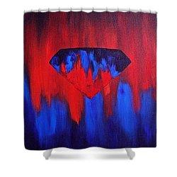 Superman Shower Curtain by Herschel Fall