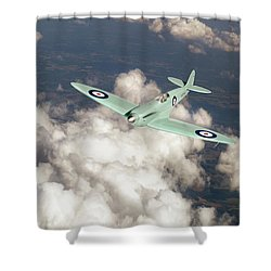 Shower Curtain featuring the photograph Supermarine Spitfire Prototype K5054 by Gary Eason