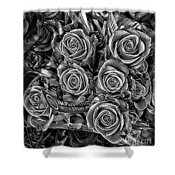 Supermarket Roses Shower Curtain
