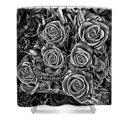 Supermarket Roses Shower Curtain by Walt Foegelle
