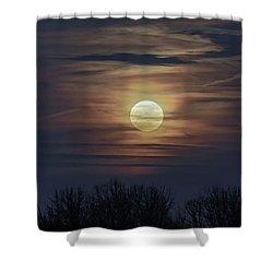 Supermoon Shower Curtain