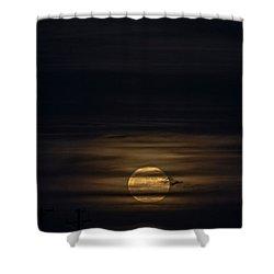 Supermoon Dec3 2017 Shower Curtain