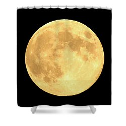 Supermoon Full Moon Shower Curtain by Kyle West