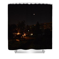 Supermoon Shower Curtain by Henryk Gorecki