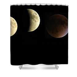 Supermoon Total Lunar Eclipse Shower Curtain