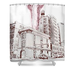 Supernatural Insurance Claim Shower Curtain