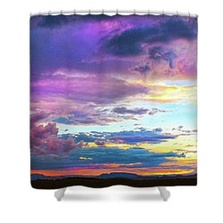 Supernatural Sky - Colorado Shower Curtain