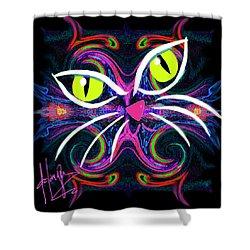Supernova Cat Shower Curtain