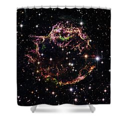 Shower Curtain featuring the photograph Supernova Remnant Cassiopeia A by Marco Oliveira