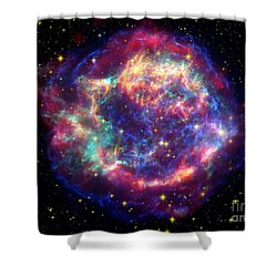 Supernova Remnant Cassiopeia A Shower Curtain by Stocktrek Images