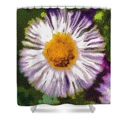 Supernove Daisy Shower Curtain by Spyder Webb