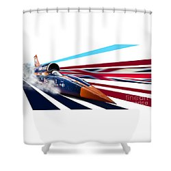 Supersonic Brit Shower Curtain