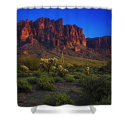 Superstition Mountain Sunset Shower Curtain
