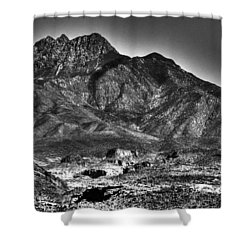 Four Peaks From Lost Dutchman State Park Shower Curtain