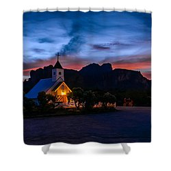 Superstition Sunrise Shower Curtain