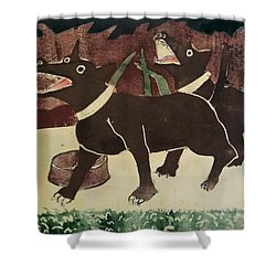 Suppertime Shower Curtain