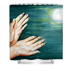 Supplication Shower Curtain