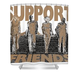 Shower Curtain featuring the digital art Support Friends by Lance Sheridan-Peel