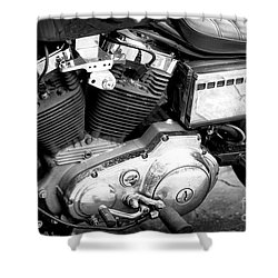 Support Your Local Hells Angels Paris Shower Curtain by John Rizzuto