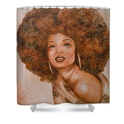 Miss Diana  Shower Curtain by Jenny Pickens