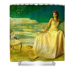 Sur La Mer Shower Curtain by Van Renselar