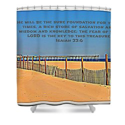 Sure Foundation Shower Curtain