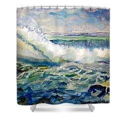 Surf 2 Shower Curtain