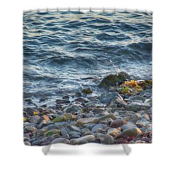 Surf And Rocks Shower Curtain