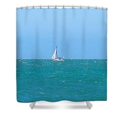 Surf And Sail The Sea Shower Curtain