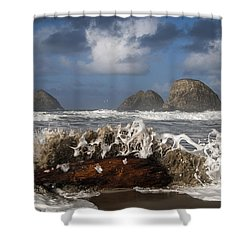 Surf And Three Arch Rocks Shower Curtain