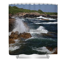 Surf At Biddeford Pool Shower Curtain