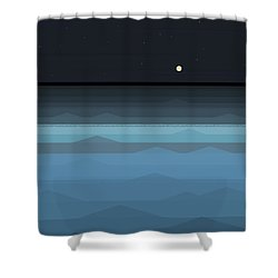 Surf At Night Shower Curtain
