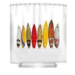Shower Curtain featuring the digital art Surf Board T-shirt by Edward Fielding