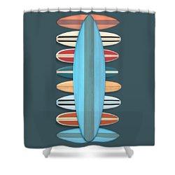 Shower Curtain featuring the digital art Surf Boards 5 by Edward Fielding