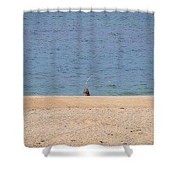 Surf Caster Shower Curtain