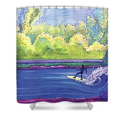 Surf Colorado Shower Curtain