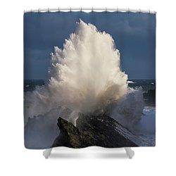 Surf Eruption Shower Curtain