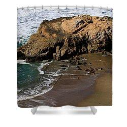 Surf Fishing At Ocean Beach Shower Curtain