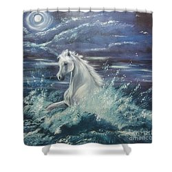 White Spirit Shower Curtain
