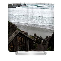 Surf Stairway Shower Curtain